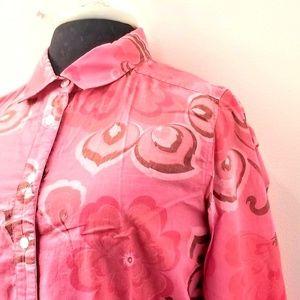 J. Crew Pink Long Sleeve Shirt